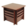 Buddy Products Reception Tables, Square, 23-1/4w x 23-1/4d x 21h, Mahogany