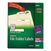 Avery Permanent File Folder Labels, TrueBlock, Inkjet/Laser, Yellow Border, 1500/Box