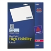 High-Visibility Permanent ID Labels, Laser, 1 x 2 5/8, Pastel Blue, 750/Pack