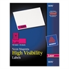 Avery High-Visibility Permanent ID Labels, Laser, 1 x 2 5/8, Neon Magenta, 750/Pack