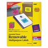Avery High-Visibility Removable ID Labels, Laser/Inkjet, 3 1/3 x 4, Asst. Neon, 72/PK