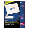 Avery Vibrant Color-Printing Address Labels, 1 1/4 x 3 3/4, White, 300/Pack