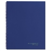 Side Bound Guided Business Notebook, 9 1/2 x 7 1/4, Navy Blue, 80 Sheets