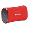 Verbatim Portable Power Pack Chargers, 2200 mAh Battery Capacity, Red
