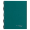 Side Bound Guided Business Notebook, 9 1/2 x 7 1/4, Teal, 80 Sheets