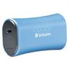 Verbatim Portable Power Pack Chargers, 2200 mAh Battery Capacity, Blue