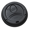 Dixie Drink-Thru Lids for 10-20 oz Cups, Plastic, Black