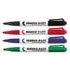 Marks-A-Lot Pen-Style Dry Erase Markers, Bullet Tip, Assorted, 4/Set
