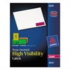 High-Visibility Permanent ID Labels, Laser, 1 x 2 5/8, Asst. Neon, 450/Pack
