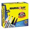 Marks-A-Lot Desk/Pen Style Combo Dry Erase Marker, Chisel/Bullet Tip, Assorted, 24/Pack