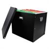 Advantus File Box, 16 x 13 x 13 1/2, Letter/Legal, Paperboard, Black