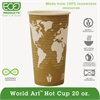 Eco-Products World Art Renewable & Compostable Hot Cups Convenience Pack - 20 oz., 50/PK