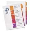Avery Ready Index Table of Contents Dividers w/Multicolor Tabs, 5-Tab, Letter