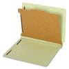 Pendaflex Pressboard End Tab Classification Folders, Four Sections, Letter, Green, 10/Box