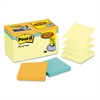 Post-it Original Pop-up Notes Value Pack, 3 x 3, Canary/Cape Town, 100-Sheet, 18/Pack