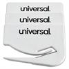 """Universal Letter Slitter Hand Letter Opener w/Concealed Blade, 2 1/2"""", White, 3/Pack"""