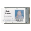 Advantus Rigid Two-Badge Blocking Smart Card Holder, 3 3/8 x 2 1/8, Clear, 20 per Pack