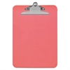 "Universal Plastic Clipboard with High Capacity Clip, 1"" Capacity, Holds 8 1/2 x 12, Red"
