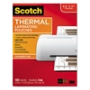 Letter Size Thermal Laminating Pouches, 5 mil, 11 1/2 x 9, 100/Pack