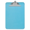 "Universal Plastic Clipboard with High Capacity Clip, 1"" Capacity, Holds 8 1/2 x 12, Blue"