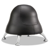"Runtz Ball Chair, 12"" Diameter x 17"" High, Black Vinyl"