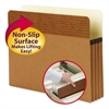 "Easy Grip Pockets, Redrope, Letter, 3 1/2"" Exp, 25/Box"