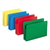 Exp File Pockets, Straight Tab, Poly, Legal, Assorted, 4/Box