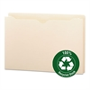 "100% Recycled Top Tab File Jackets, Legal, 2"" Exp, Manila, 50/Box"
