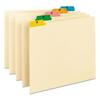 Recycled Top Tab File Guides, Alpha, 1/5 Tab, Manila, Letter, 25/Set