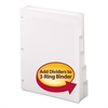 Three-Ring Binder Index Divider, 5-Tab, White