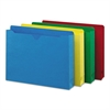 Colored File Jackets w/Reinforced 2-Ply Tab, Letter, Assorted Colors, 50/Box
