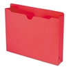 Colored File Jackets with Reinforced Double-Ply Tab, Letter, Red, 50/Box