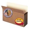 """Smead 5 1/4"""" Exp File Pocket, Straight Tab, Legal, Manila/Redrope, 10/Bx"""