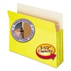 "Smead 3 1/2"" Exp Colored File Pocket, Straight Tab, Letter, Yellow"