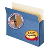 "Smead 3 1/2"" Exp Colored File Pocket, Straight Tab, Letter, Blue"