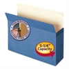 "Smead 5 1/4"" Exp Colored File Pocket, Straight Tab, Letter, Blue"