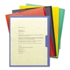Organized Up Poly Opaque Project Jackets, Letter, Assorted, 5/Pack