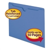 Smead Colored File Jackets w/Reinforced 2-Ply Tab, Letter, 11pt, Blue, 100/Box