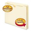 "Smead Manila File Jackets, 1 1/2"" Exp, Letter, 11 Point, Manila, 50/Box"