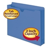 Colored File Jackets with Reinforced Double-Ply Tab, Letter, 11 Pt, Blue, 50/Box