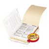 "Stackable End Tab Legal Size Folder Dividers with Fastener, 1/2"", 50 Each/Pack"