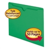 Colored File Jackets w/Reinforced 2-Ply Tab, Letter, 11pt, Green, 100/Box