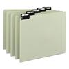 Recycled Top Tab File Guides, Alpha, 1/5 Tab, Pressboard, Letter, 25/Set