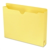 Colored File Jackets with Reinforced Double-Ply Tab, Letter, Yellow, 50/Box