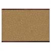 Prestige 2 Magnetic Cork Bulletin Board, 48 x 36, Mahogany Frame