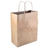 Premium Shopping Bag, Paper, 8 x 10 1/4, Brown, 50/Box