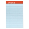 Fashion Colored Perforated Note Pads, 5 x 8, Legal, Blue, 50 Sheets, 6/Pack