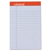 Universal Fashion Colored Perforated Note Pads, 5 x 8, Legal, Orchid, 50 Sheets, 6/Pack