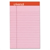 Universal Fashion Colored Perforated Note Pads, 5 x 8, Legal, Pink, 50 Sheets, 6/Pack