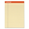 Fashion Colored Perforated Note Pads, 8 1/2 x 11 3/4, Legal, Ivory, 50 Sht, 6/PK